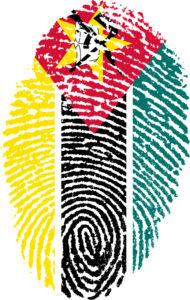 Mozambique thumbprint flag